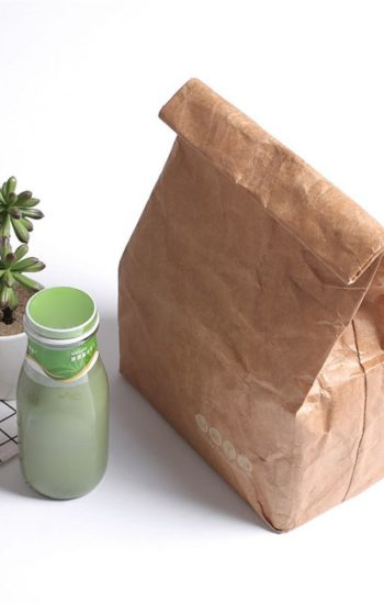 Kraft Paper Durable Insulated Thermal Lunch Bag