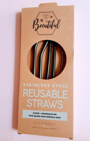 Black Stainless Steel Straws 4 Pack Mix (Limited Edition)