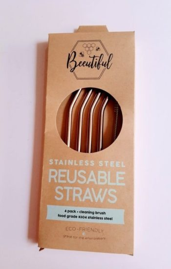 Rose Gold Stainless Straws 4 pack Bent (Limited Edition)